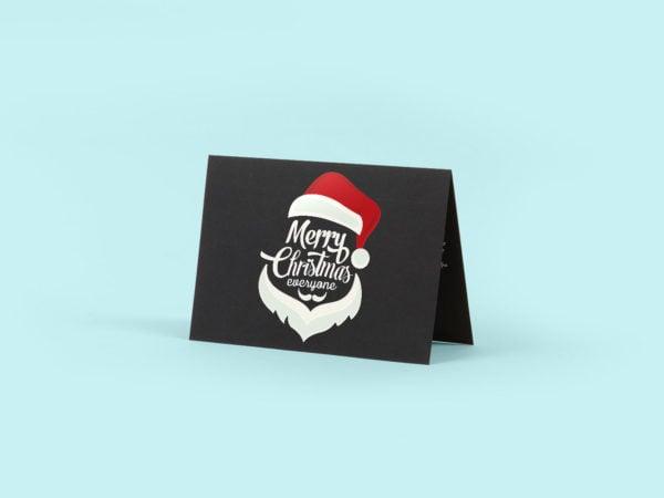 Black Greeting Card Free Mockup