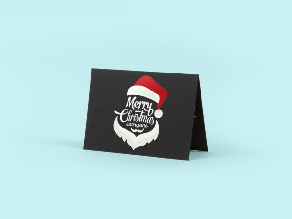Black Greeting Card Free Mockup