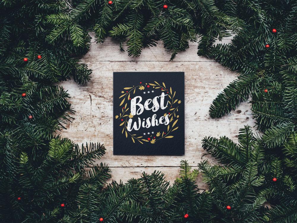 Christmas Card Free PSD Mockup