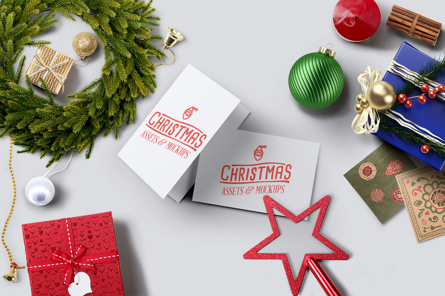 Christmas Mockup Pack Free Demo