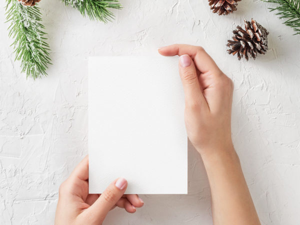 Free Christmas Greeting Card Mockup
