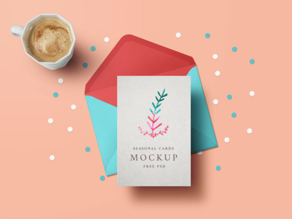 Holiday Greeting Card Free Mockup