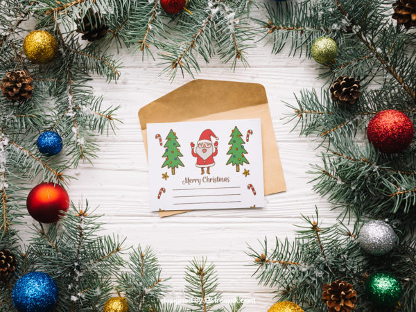 Letter Mockup with Christmas design