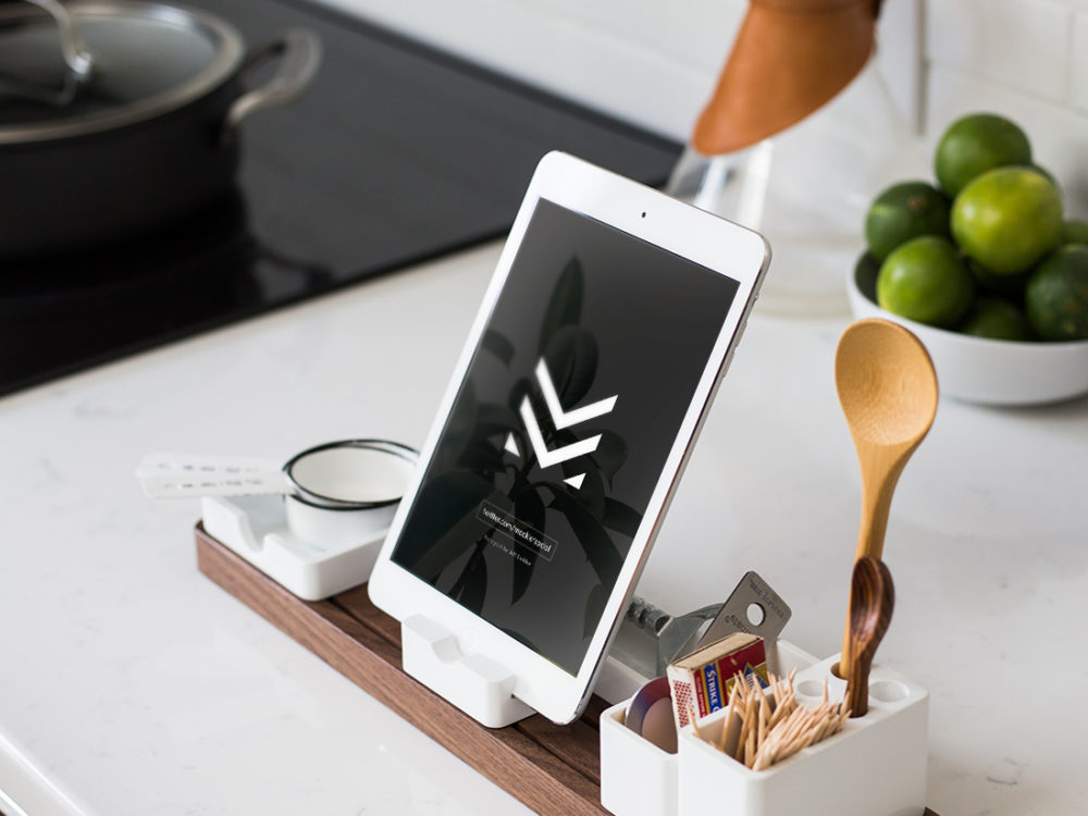 iPad Sitting On Dock Free Mockup