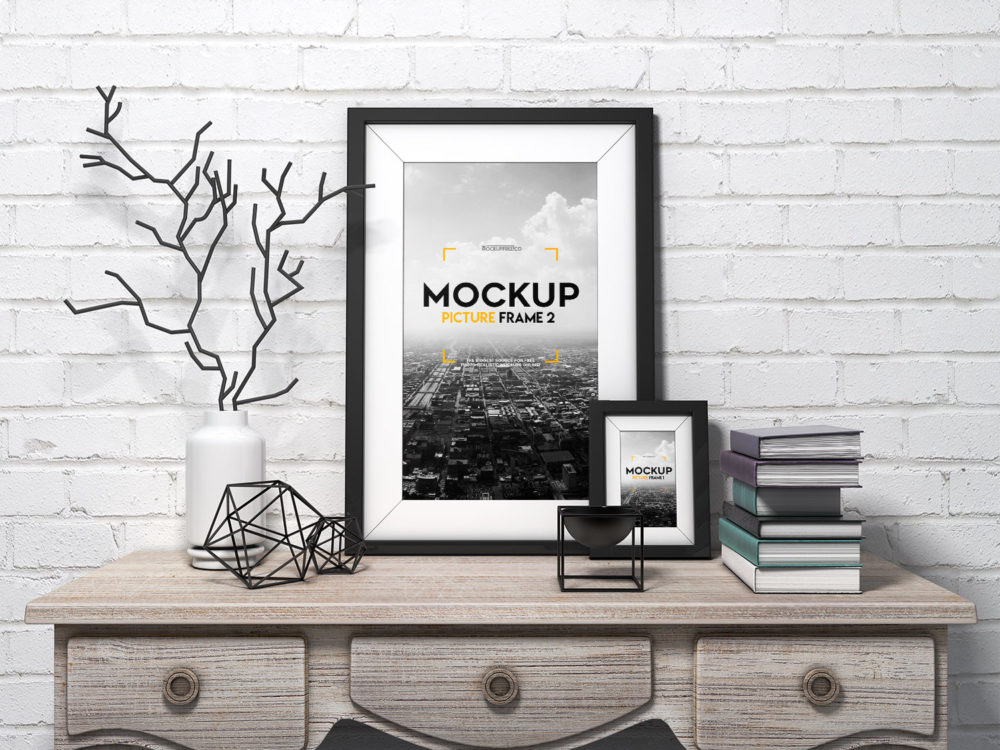 Picture Frame Free PSD Mockup