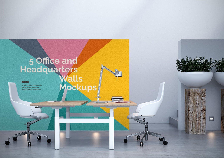 ... 5 Free Office Interior Mockup PSD ...