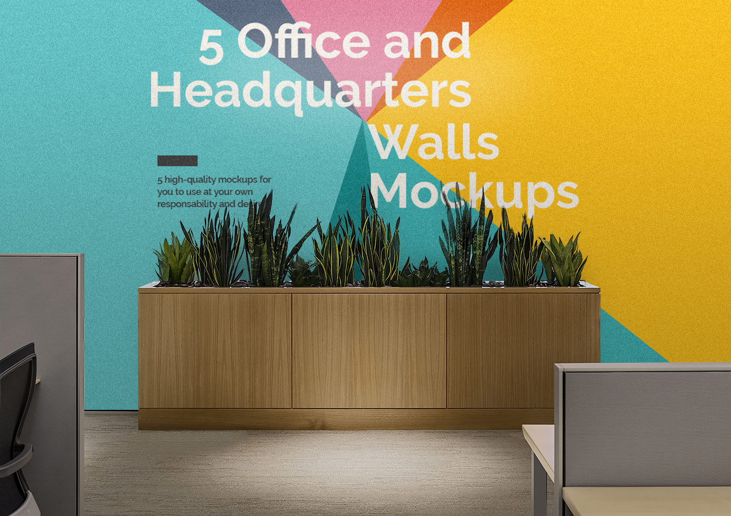 5 Free Office Interior Mockup PSD