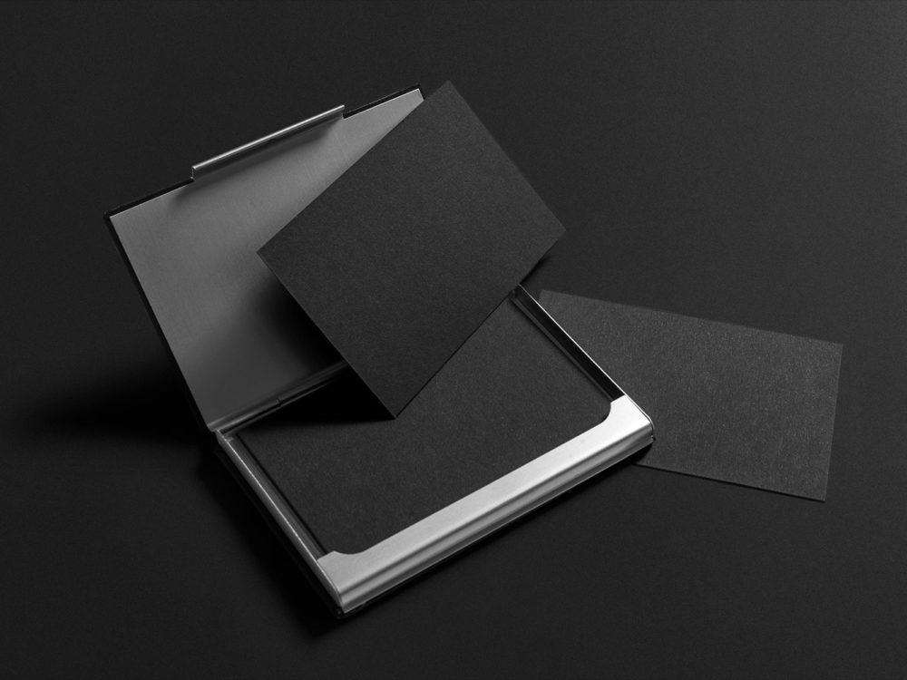 Black Stationery Mockup PSD