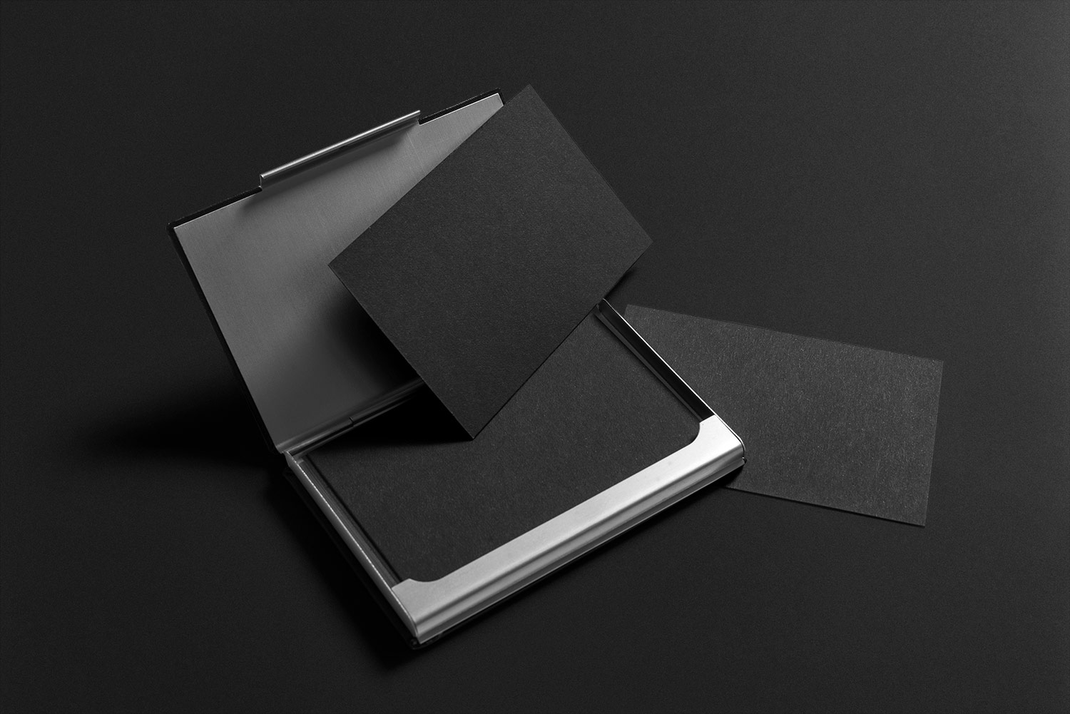 Black Stationery Mockup PSD