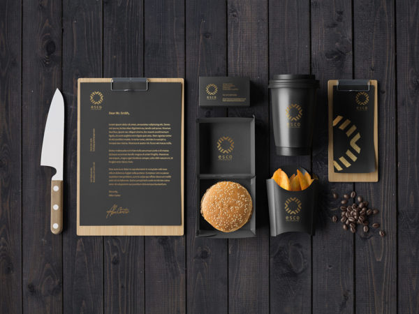 Brand Identity Fast Food Free Mockup