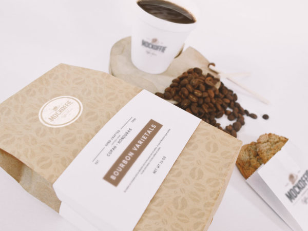 Coffee Bag And Paper Cup Mockup