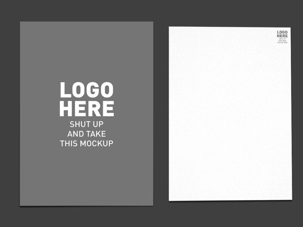 Folder closer A4 Free Mockup