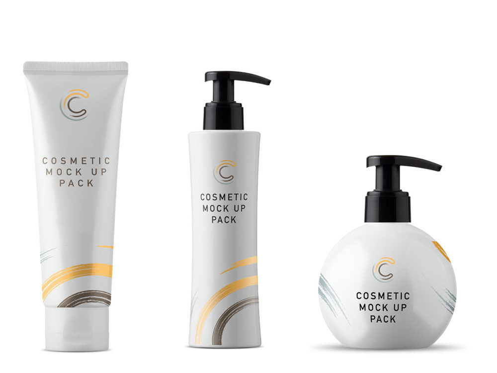Free Cosmetic Packaging Mockups and Scene Creator Elements