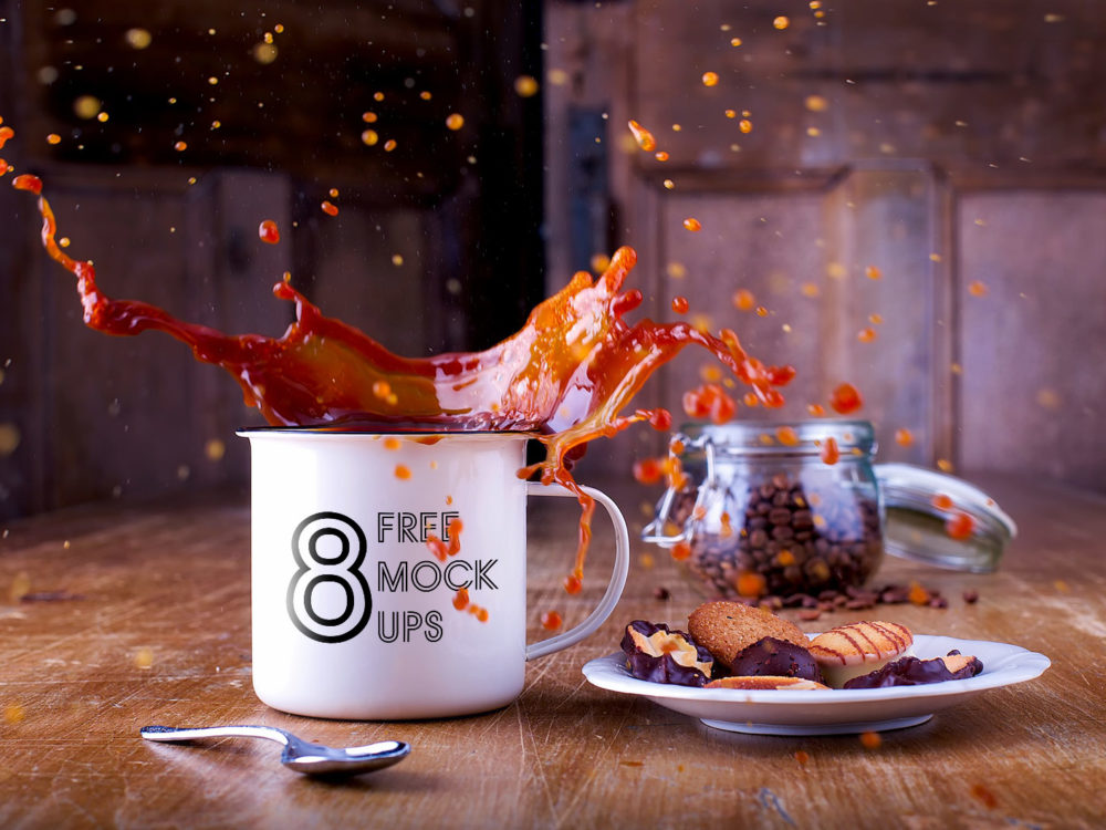 8 Free Cup PSD Mockups
