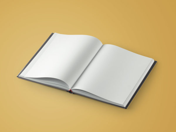 Free Hardcover Open Book Mockup
