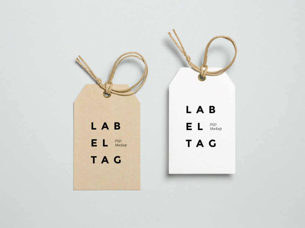Free Label Tag PSD MockUp