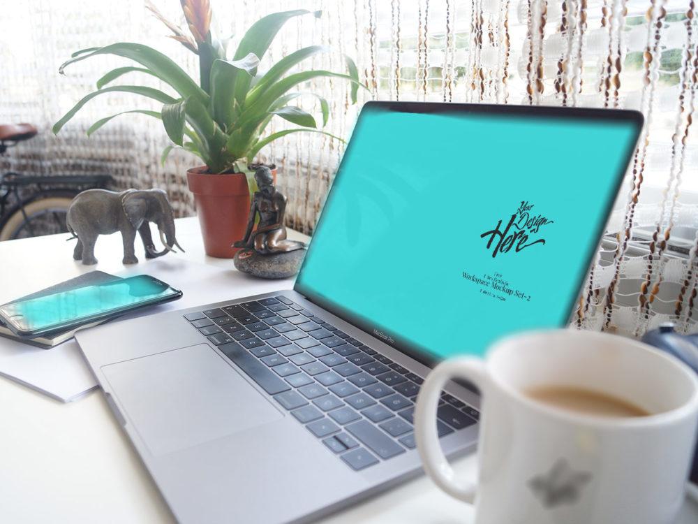 Free Ultra Realistic Workspace Mockup