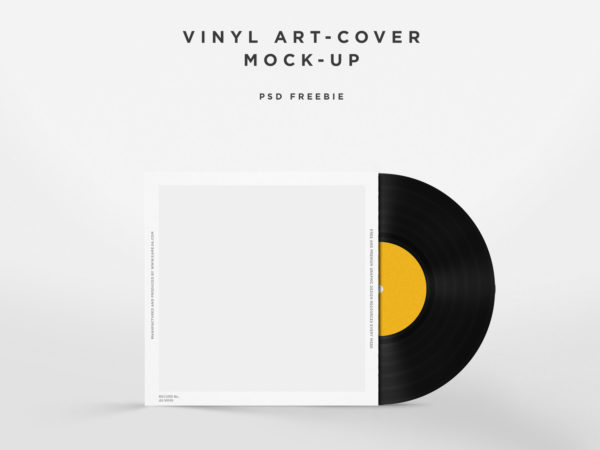 Free Vinyl Disc Cover Mockup