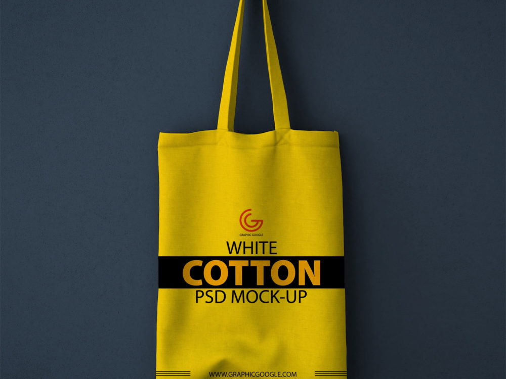 Free White Cotton Bag PSD Mockup
