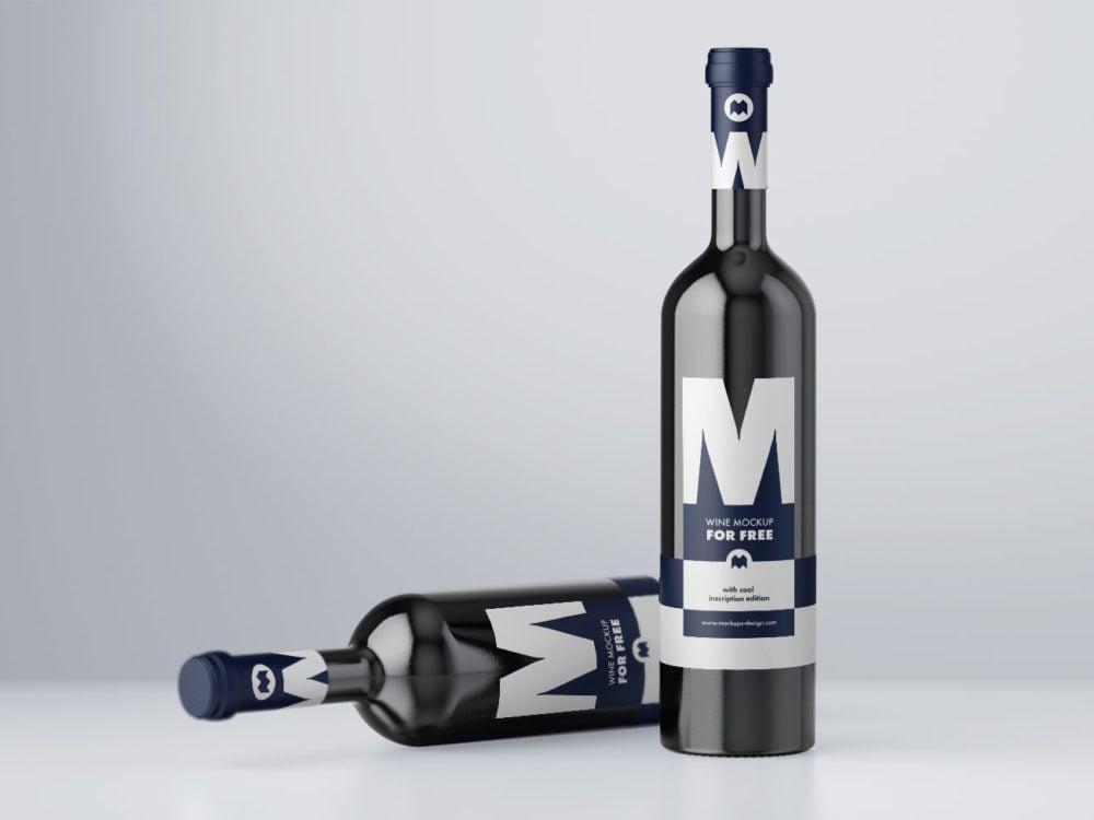 Free Wine Mockup PSD