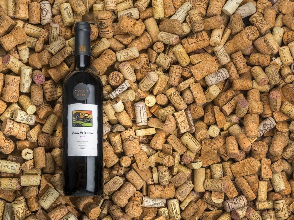Realistic Wine Free Mockup