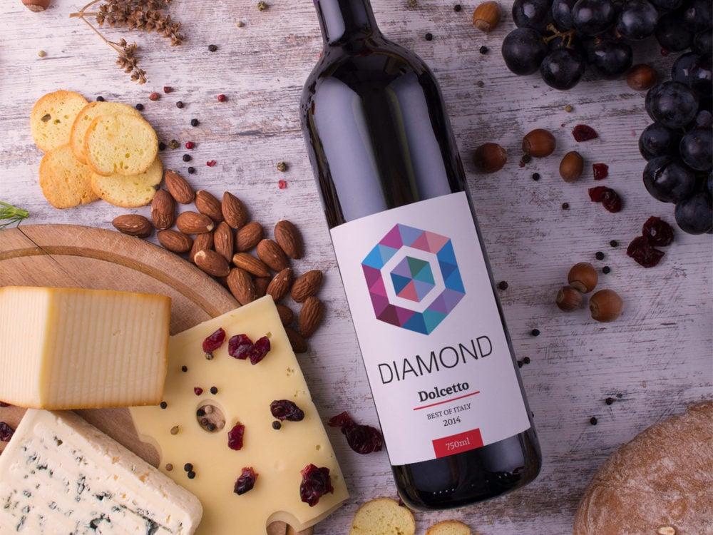 Red Wine Free PSD Mockup