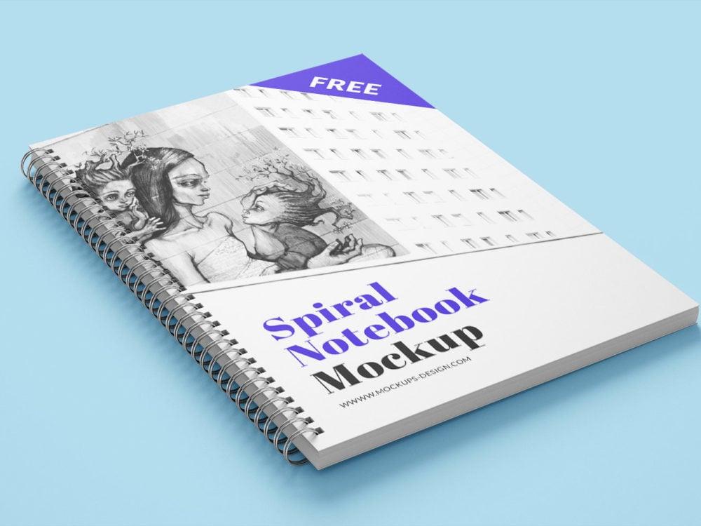 Spiral Book Mockup