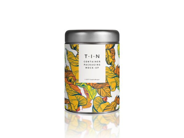 Tin Container Packaging Free Mockup