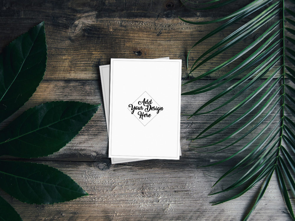 Two Free Greeting Card Mockups