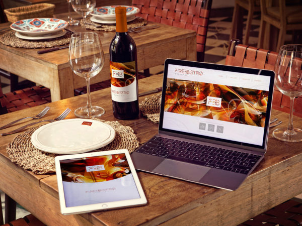 Wine Bottle, iPad Air 2, MacBook Mockup
