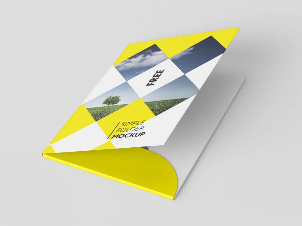 A4 Folder Free Mockup