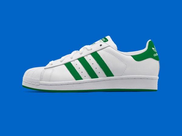 Adidas Superstar Shoe Free PSD Mockup