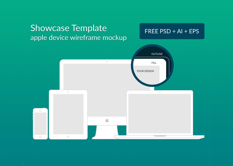 Apple Device Wireframe Responsive Mockups Psd Ai Eps Free Mockup
