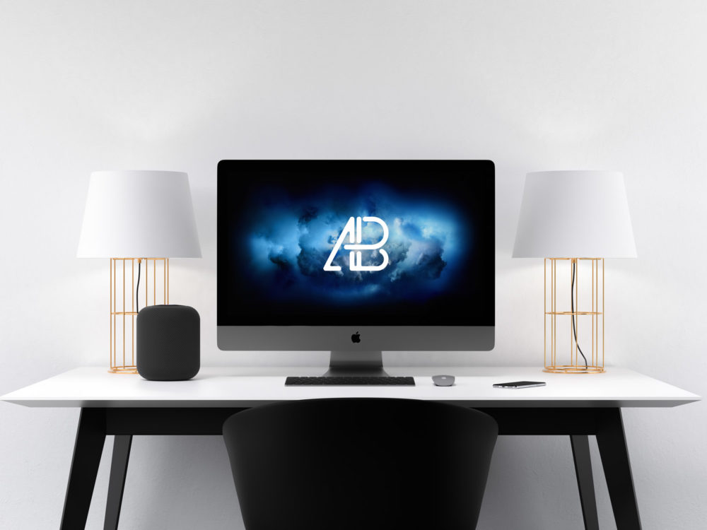 Apple iMac Pro Workspace Mockup