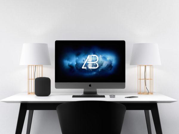 Apple iMac Pro Workspace Mockup