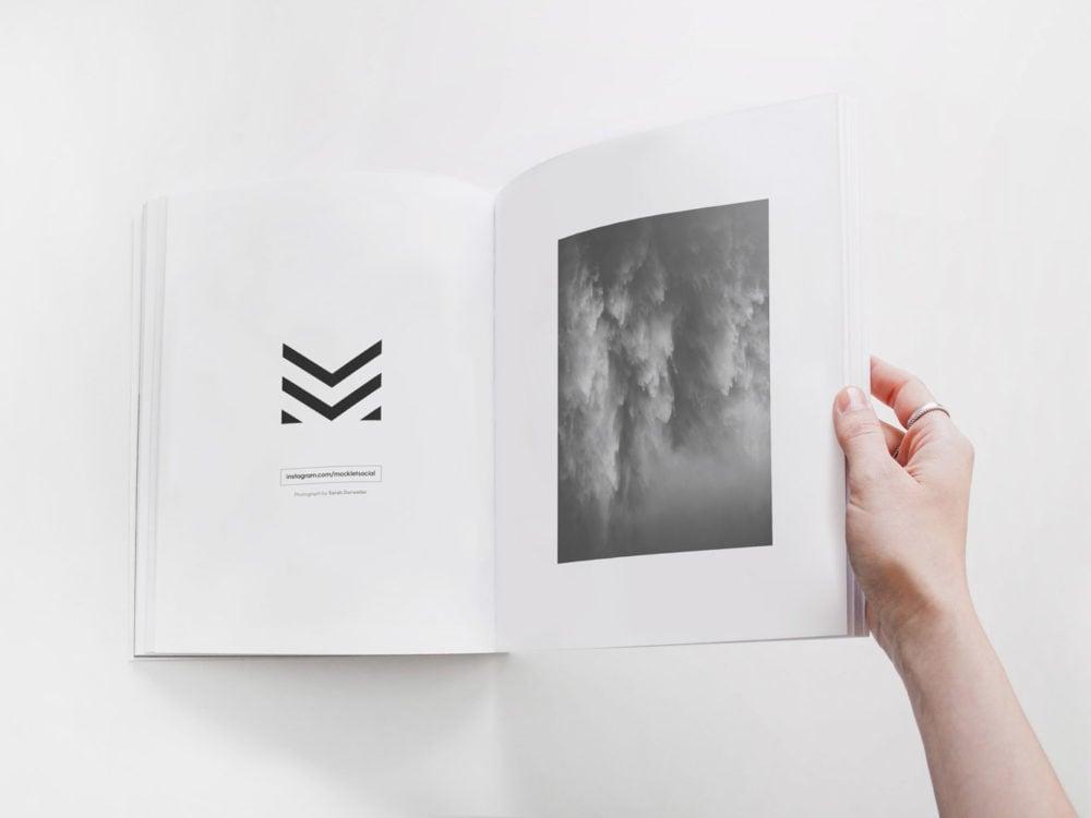 Book Mockup in Hand