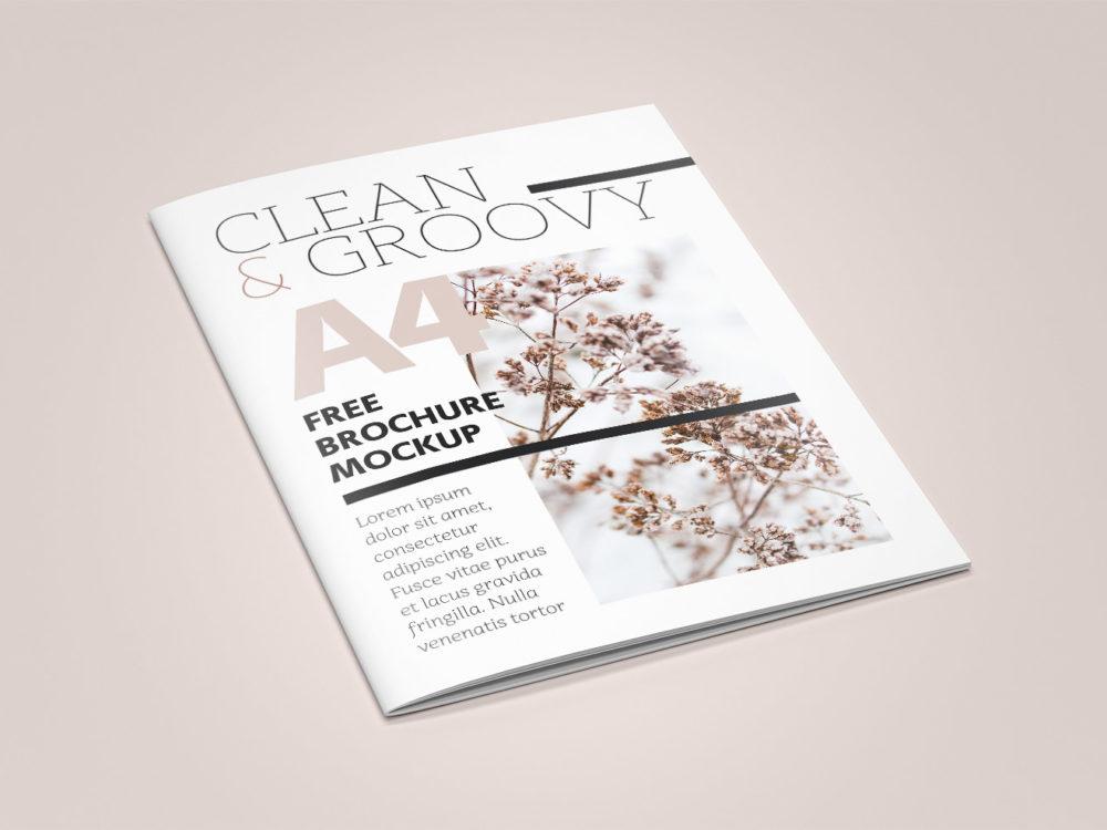 Brochure A4 Magazine Free Mockup