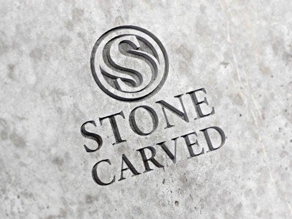 Stone Logo Mockup PSD