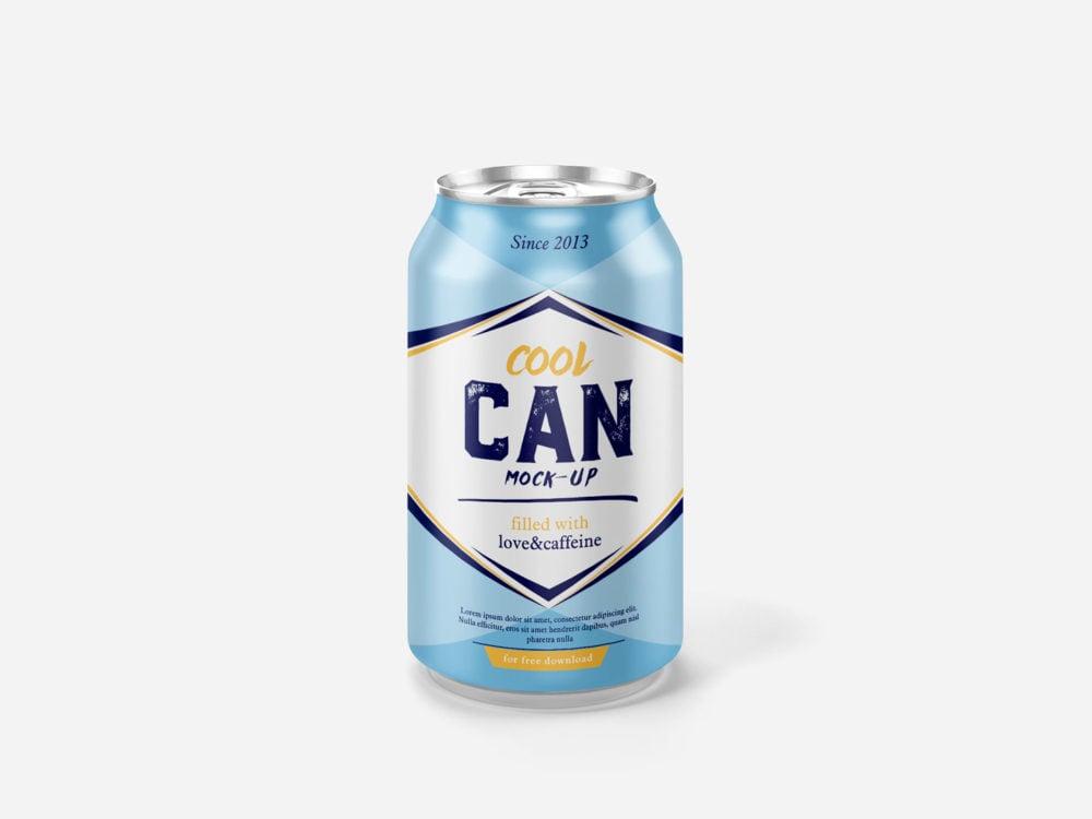 Cool Can Free Mockup 330 ml