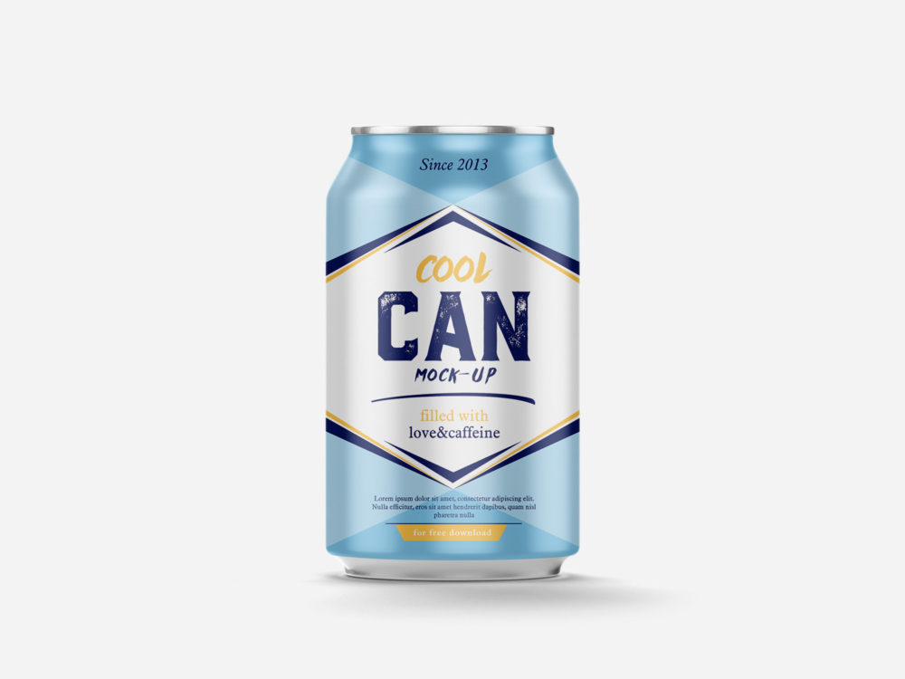 Cool Can Free Mockup 330 ml