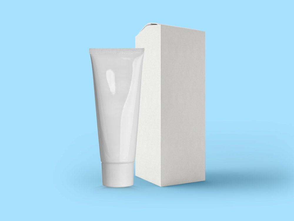 Cosmetic Tube and Box Mockup