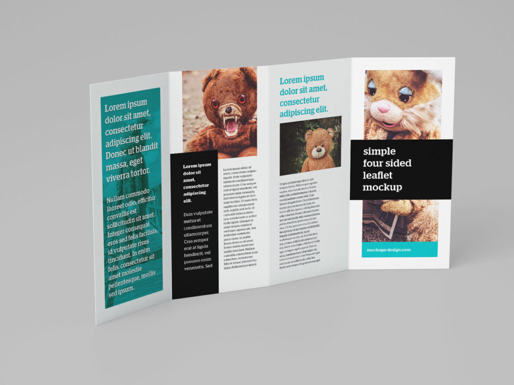 Free 4-Panel Leaflet Mockups