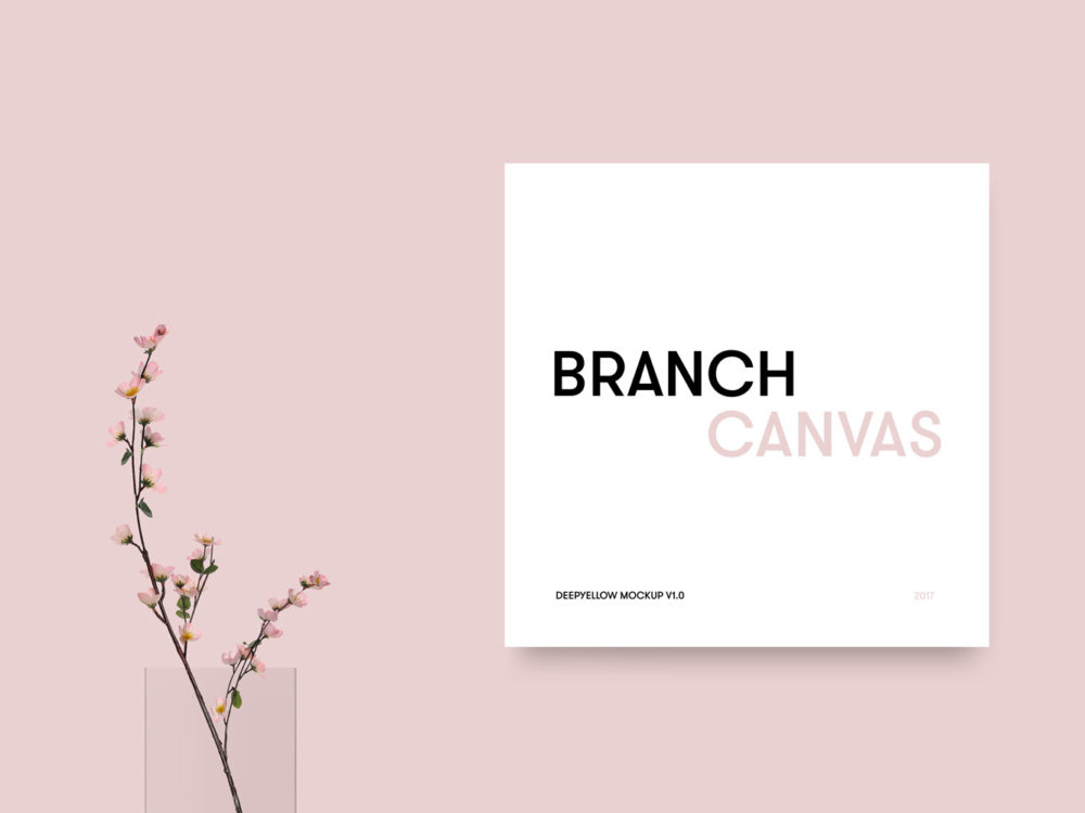 Free Branch Canvas Mockup