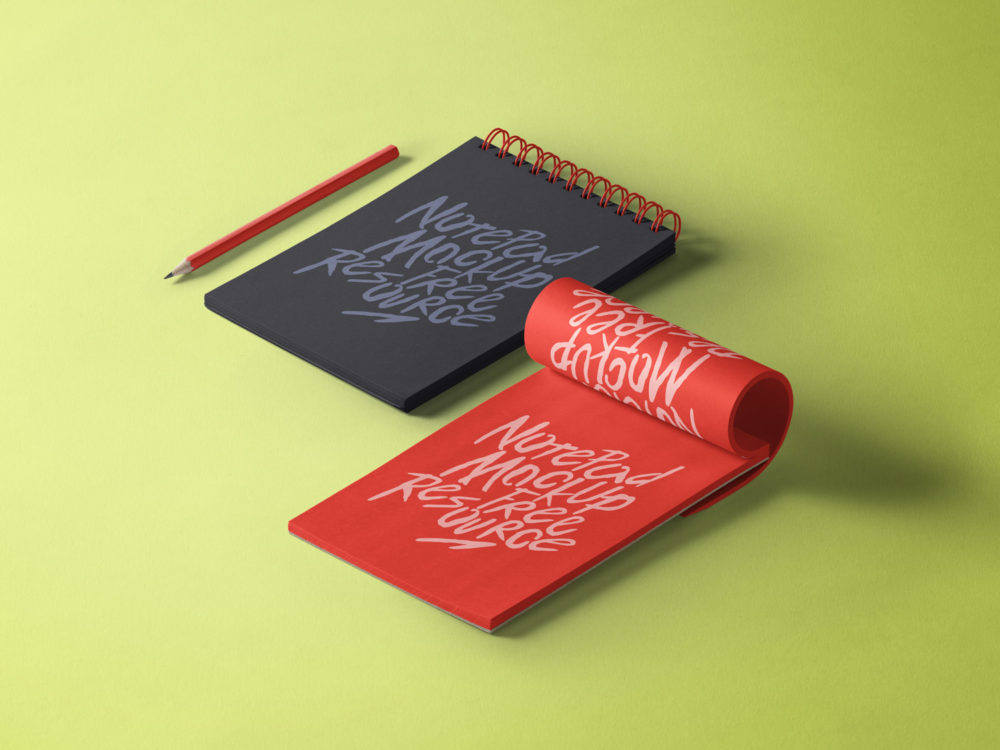 Free Notepad Sketchbook Mockup