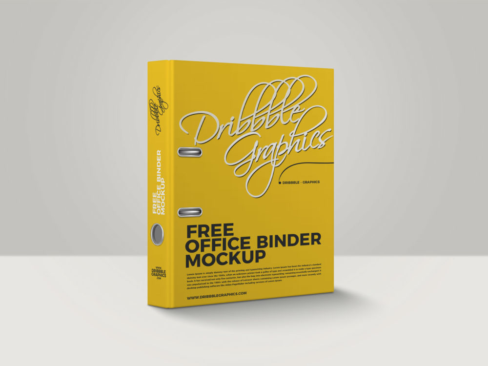 Free Office Binder Mockup
