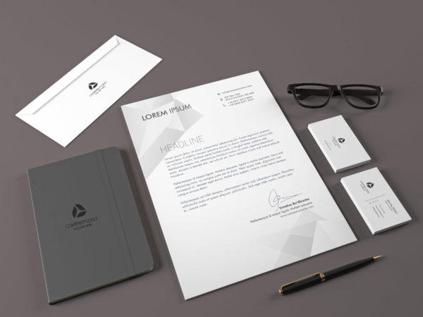 Free Realistic Corporate Identity Stationary Mockup
