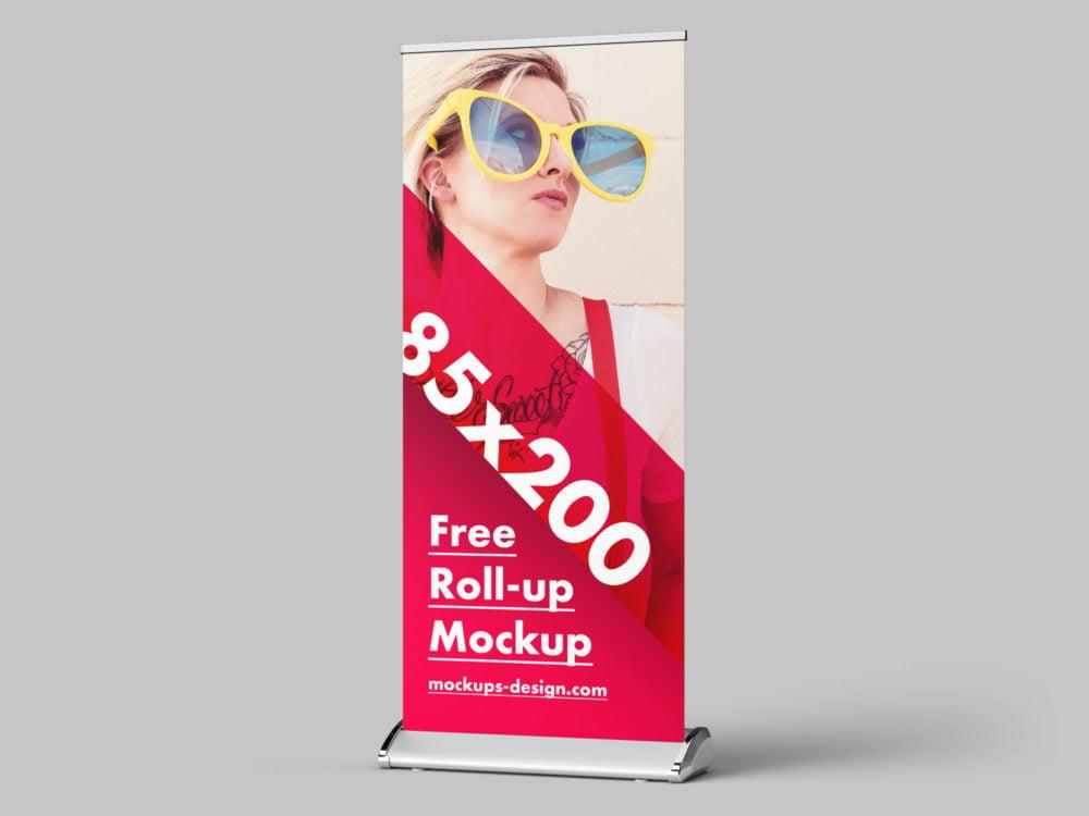 Free Roll-up Mockup PSD