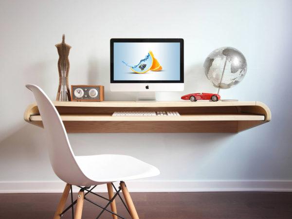 Free iMac Workspace PSD Mockup