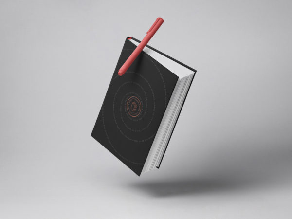 Gravity Hardcover Book Mockup PSD