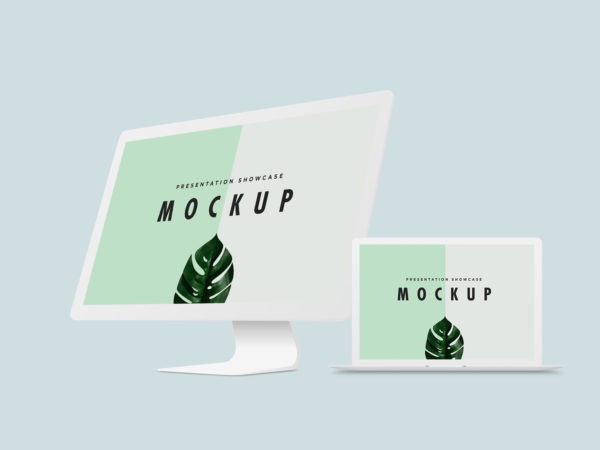 MacBook Pro and iMac Mockup Template